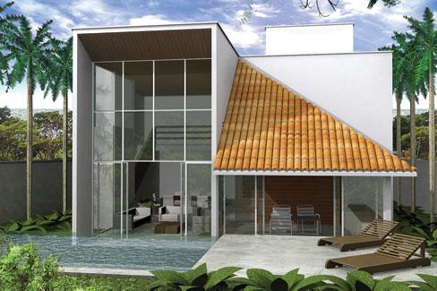 627 projeto economico de casa moderna construtora martins for Construir casas modernas